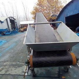 单/双槽钢三托辊散料输送机 带宽800长10米粮食输送机02