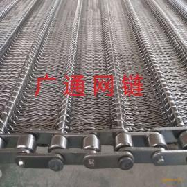 供应青州2520高温炉传送网带人字型不锈钢输送网带的厂家
