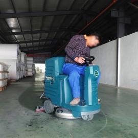 驾驶式洗地车全自动拖地洗地车 PVC地面清洗机刷地机 车库洗地机