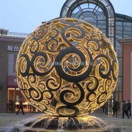 镂空发光球雕塑 不锈钢球雕塑 小区不锈钢雕塑
