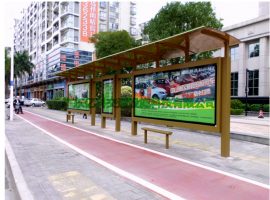 户外灯箱 市区公交站牌 智能电子站牌设计