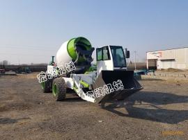 多功能混凝土搅拌车 铰接式4方自上料搅拌车 铲车式铲斗搅拌车