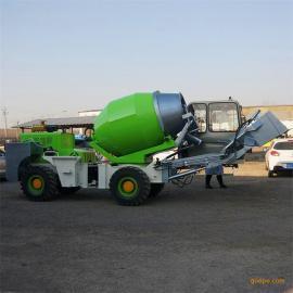 铰接式1.6方自上料搅拌车 自动装载移动式混凝土搅拌车