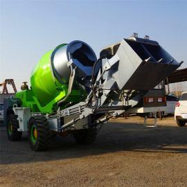 *生产铰接式1.6方自上料搅拌车 移动式混凝土搅拌车现货