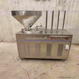 肉块灌肠机腊肠灌肠机香肠加工成套设备热卖中