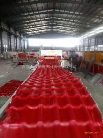 PVC塑料波浪瓦生产线设备 合成树脂波浪瓦生产线
