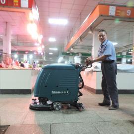 西塘农贸市场毛石地面吸水机车间地板扫地机物业商场超市洗地机