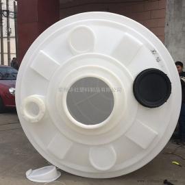 华she10吨食品级白色大水箱易清洗水塔guo滤净化水储罐kang氧化10T