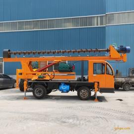 360°旋转小型地基打桩机 楼房地基旋转打桩机 工地常用小打桩机