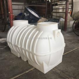 华社2立方生物化粪池 一体化污水处理沉淀池滚塑塑料卧式塑料水箱2T
