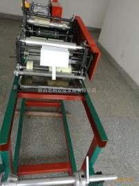 制造两种开口的纸袋机全能志明牌桃子袋机正在销售中