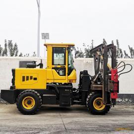 富中高速公路护栏打拔钻一体装载式打桩机de-47