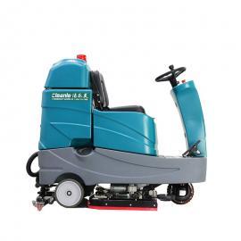 大型商场用驾驶式洗地机洁乐美工业双刷电动拖地机自动清洗机