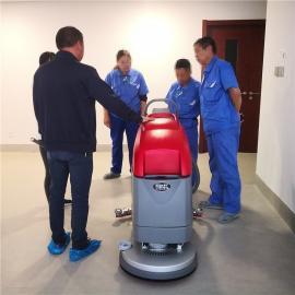 凯达仕(QUEDAS)手推式洗地机工厂车间全自动洗地车电动拖地吸干机工业清洗机QX3