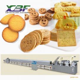 鑫贝发酱油饼膨化机器 酱油饼生产设备 休闲膨化食品机械xbf70