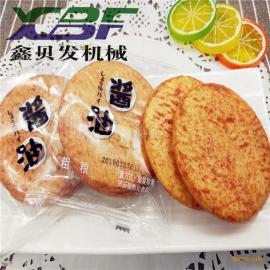 鑫bei发酱油饼加工shebei 膨化雪米饼生chan线 休闲shipin机械xbf70