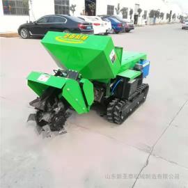 圣泰开沟施肥机工作视频 履带式土地回填机ST-32