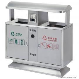 多麦四分类垃圾桶定做 分类果皮箱材质120L