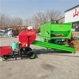 圣泰多用途秸秆打捆机 玉米秸秆粉碎压块机图片 YK5552