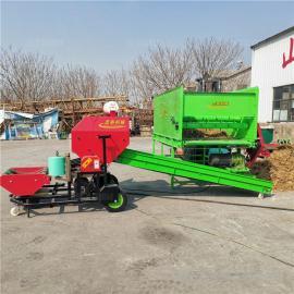圣泰干玉米秸秆打包打捆机 青贮羊饲料打捆包膜机 机器参数YK5552