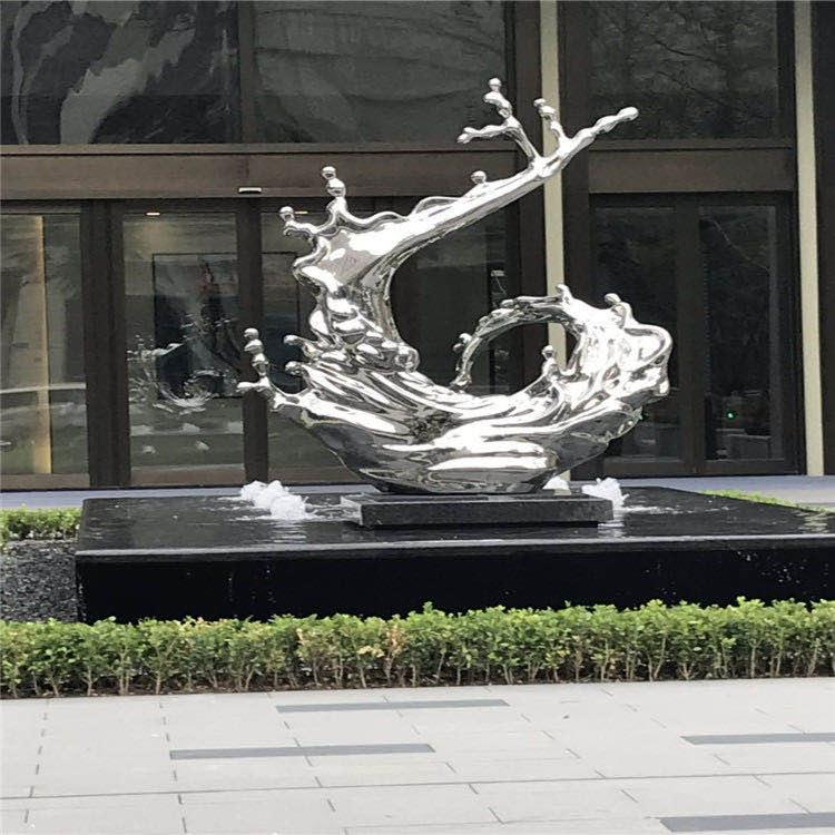 绿华海盐雕塑 不锈钢景观11