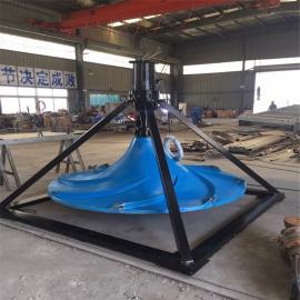如克定制不锈钢叶轮双曲面搅拌机可干式潜水式安装GSJ-500
