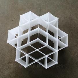 凯迪PP六角内棱环塑料规整填料各种材料齐全DN220*100