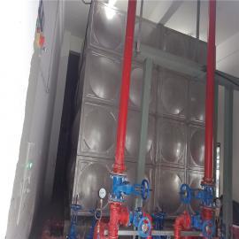 304不锈钢水箱规格,高位消防水箱安装HTD-BXG30T华腾达