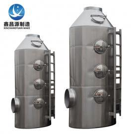 鑫昌源高温印染废气处理设备耐酸碱不锈钢喷淋塔wxxcysbzz.cn